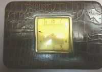 Vintage PHINNEY-WALKER Travel Alarm Clock & Jewelry Box
