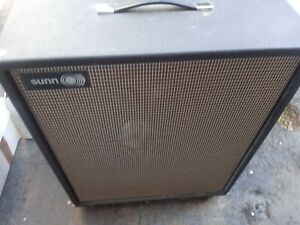VINTAGE SUNN SOLARUS 2X12 CABINET & TRANSDUCER SPEAKERS Local Pu Only SLC UT