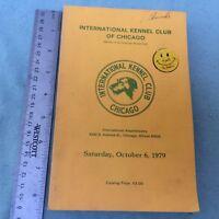 VINTAGE BOOK INTERNATIONAL KENNEL CLUB OF CHICAGO OCTOBER 1979 DOG SHOW BREEDS