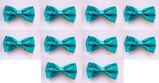 LOT OF 10 Teal Men's Adjustable Bowties/Bow tie Tuxedo Wedding