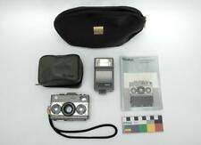 Rare Vintage Rollei 35 Classic Titanium 20 REB Flash Case & Manual Titan Camera