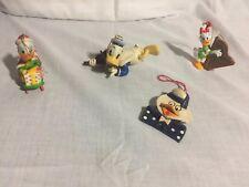 Disney Donald/Daisy Duck Christmas Ornament Lot Of 4