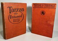 Tarzan the Untamed, Tarzan the Terrible 1920 1921 Edgar Rice Burroughs Books (2)