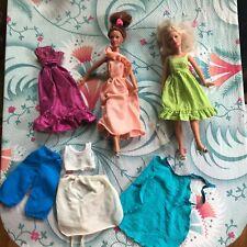 2  Darci Dolls 1970s Kenner Blonde Redhead Original Shoes Vintage Clothing