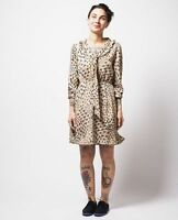 DEAR CREATURES Gina Dress in tan / black vintage retro modcloth 50s PinUp M