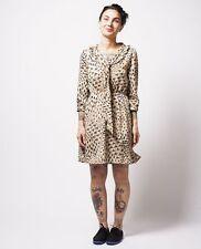 DEAR CREATURES - Gina Dress in tan / black vintage retro modcloth M BNWOT
