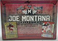 2020 LEAF METAL JOE MONTANA COLLECTION FOOTBALL HOBBY BOX   1 box