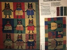Country Cats by Alley Cats Panel QUILT, SEW,  FABRIC - Wallhanging & Pillow
