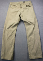 AG Adriano Goldschmied Made n USA Men Beige Graduate Tailored Pants 31 x 34 $178