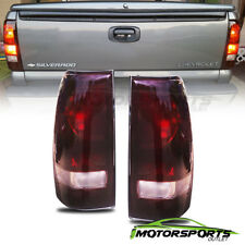 1999-2006 GMC Sierra /1999-2002 Chevy Silverado Rear Brake Dark Red Tail Lights