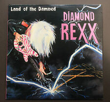 DIAMOND REXX - Land Of The Damned LP Vinyl Record NEAR MINT 1986 Hard Rock