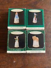 Alice in Wonderland Hallmark Collector's Series Miniature Thimble Set 1995-1998