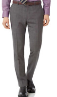 Charles Tyrwhitt Grey Slim Fit Jaspé Check Trousers Mens Size UK W30 *REF53*