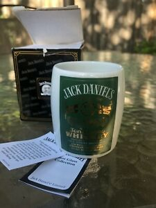 Vintage New JACK DANIEL'S 2006 PORCELAIN GREEN LABEL SHOT GLASS.Rare