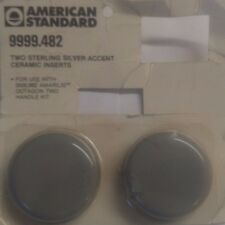 American Standard Amarilis faucet 2 Sterling Silver Accent Ceramic Inserts 482