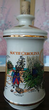 VINTAGE 1970 OLD FITZGERALD SOUTH CAROLINA TRICENTENNIAL PORCELAIN  DECANTER