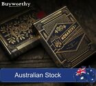 Monarchs Playing Cards Black Navy Blue Theory 11 Gold Embossed Box Poker Deck