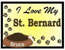 St. Bernard Personalized I Love My St. Bernard Magnet