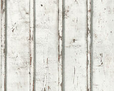 Papel pintado Dekora naturaleza as Creation 95370-1 madera crema gris blanco vliestapete