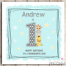 Personalised Boys First Birthday Card 1st Son Nephew Grandson Brother Godson Boy