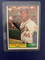 1961 Topps Hank Aaron Milwaukee Braves #415 Baseball Card