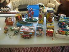 Vintage Lot of Tin Toys, Monkey, Duck, Crocodile, Bambi, Frog - 1960's - 70's