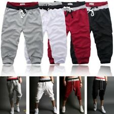 Summer Men's 3/4 Knee Casual Jogger Sports Baggy Gym Shorts Asia Size S-2XL