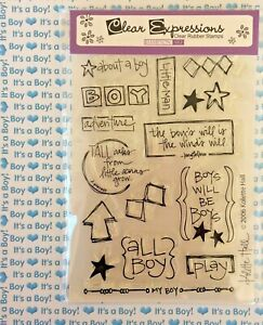 All Boy Clear Cling Mount Stamps Baby Shower Invitations Newborn Scrapbooking