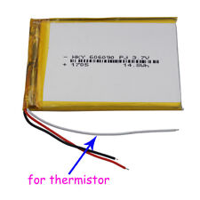 3.7V 4000 mAh Polymer Li Battery 3 wires 606090 for thermistor For GPS Tablet PC
