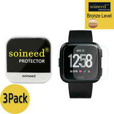 [3-PACK] SOINEED Tempered Glass Screen Protector Film For Fitbit Versa Watch