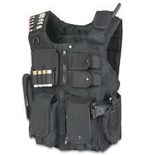 Tactical Military Vest SWAT Style Molle Assault Combat Gear Police Army Black