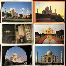 LOT - 7  PIECE INDIA - TAJ MAHAL COLOR PICTURE POSTCARDS (NEW)