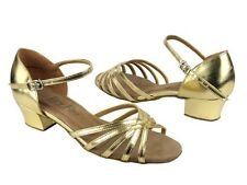 Women's West Coast Swing Salsa Ballroom Dance Shoes low Heel 1.5 Very Fine 802