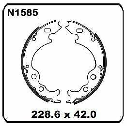 Ford Spectron Van Bus Spacer 1.8L 1984 REAR Drum Brake Shoe SET N1585