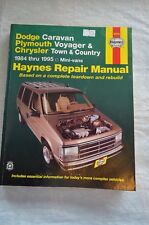 84-95 Haynes Manual Dodge Caravan Plymouth Voyager Chrysler Town & Country 30010
