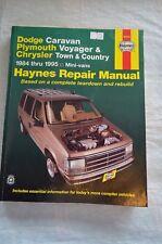 84-95 Haynes Manual Dodge Caravan Plymouth Voyager Chrysler Town & Country 30010