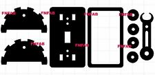 Steam punk light switch levers dxf files on CD for CNC cutting (4 styles)