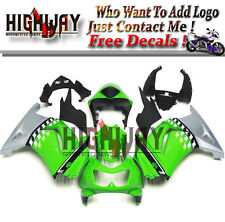 Fairings For Kawasaki Ninja 250 08-12 EX250R ABS Fairing Kit Bodywork Green Gray
