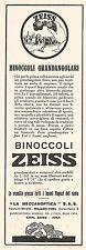 W2120 Binoccoli grandangolari ZEISS - Pubblicità del 1930 - Vintage advertising