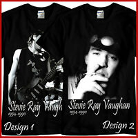 Stevie Ray Vaughan Tribute Rock Band Music Black T-Shirt TShirt Tee Size S-3XL