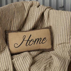 "VHC Brands Primitive 7""x13"" Home Pillow Black Thanksgiving Star Bedroom Decor"
