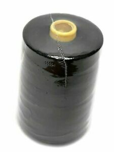 1 Pc .All Purpose Polyester Sewing Thread, 12,000 yards, Tex 27, Black
