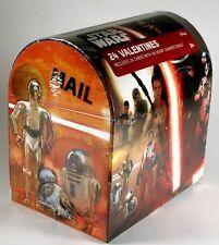 New Nib Star Wars Force Awakens Set 24 Collectible Valentines Mailbox 8 Designs