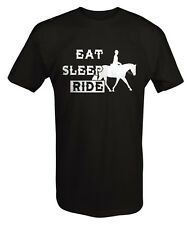 Eat Sleep Ride Horseback Riding Cowboy Lifestyle T Shirt