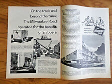 1962 Milwaukee Road Railroad Ad Operates for the Benefit of Shippers