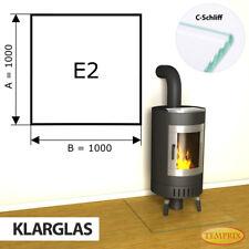 Kamin Glasbodenplatte Funkenschutz Kaminplatte Glas Ofen Platte Bodenplatte - E2