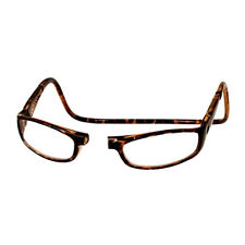 CliC +3.0 Diopter Magnetic Reading Glasses: Euro - Tortoise