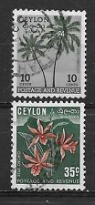 CEYLON , SRI LANKA , 1951/52 , SET OF 2  STAMPS , PERF , USED