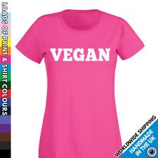Ladies Vegan Tshirt - Vegetarian Diet T shirt Funny Vegans Activist Food Ladies