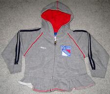 New York Rangers Rebok Full Zip Hooded Sweatshirt- Size Girls No Tag